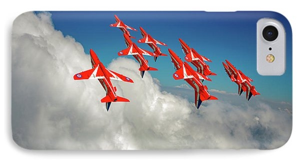 IPhone Case featuring the photograph Red Arrows Sky High by Gary Eason