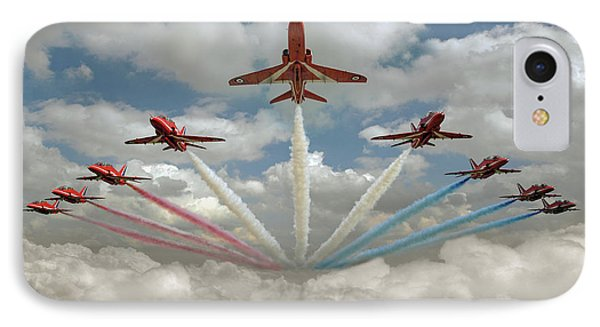 IPhone Case featuring the photograph Red Arrows Smoke On  by Gary Eason