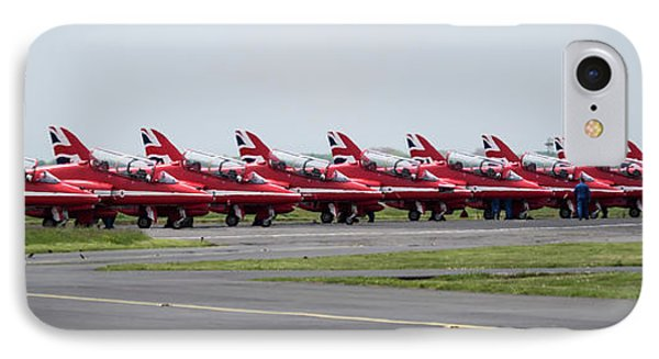 IPhone Case featuring the photograph Red Arrows - Teesside Airshow 2016 Aircraft Check by Scott Lyons