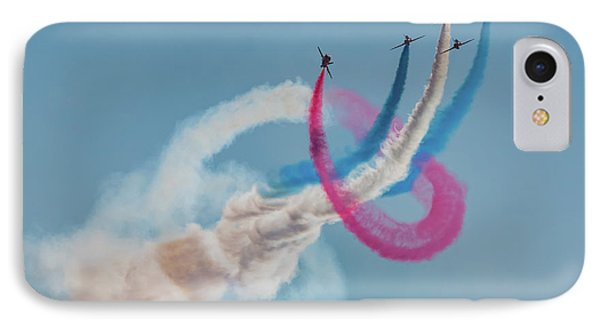 IPhone Case featuring the photograph Red Arrows Twister by Gary Eason