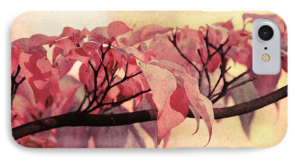 Red Autumn Day Phone Case by Angela Doelling AD DESIGN Photo and PhotoArt