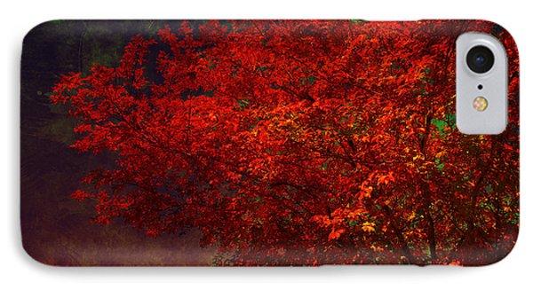 Red Autumn Tree IPhone Case by Susanne Van Hulst