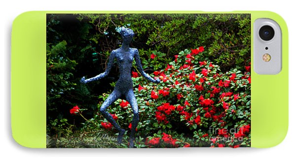 IPhone Case featuring the photograph Red Azalea Lady by Susanne Van Hulst