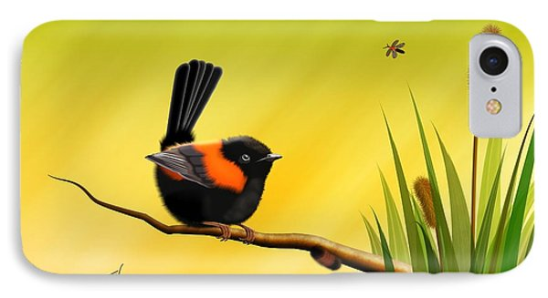 Red Backed Fairy Wren IPhone Case by John Wills