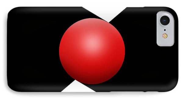 Red Ball S Q 1 IPhone Case