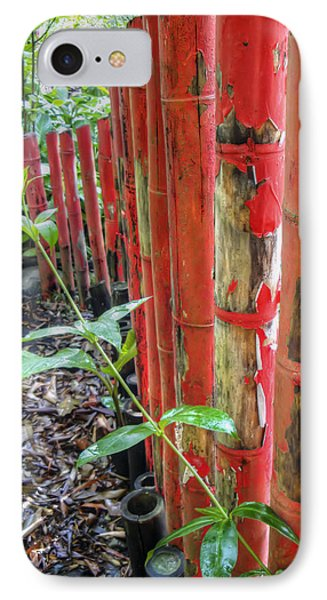 Red Bamboo Phone Case by Dolly Sanchez