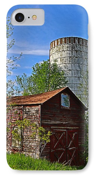 IPhone Case featuring the photograph Red Barn And Silo by Paula Porterfield-Izzo