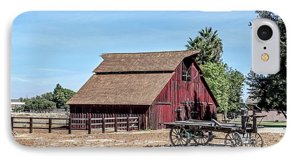 Red Barn And Wagon IPhone Case