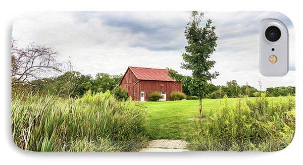Red Barn At Dawes Arboretum IPhone Case