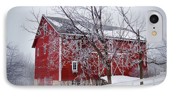 Red Barn Circa 1876 IPhone Case by Sue Stefanowicz