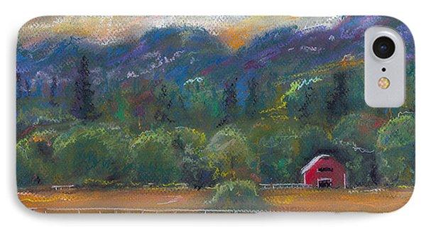 Red Barn IPhone Case by Clara Sue Beym