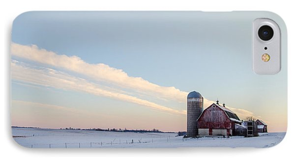 IPhone Case featuring the photograph Red Barn by Dan Traun