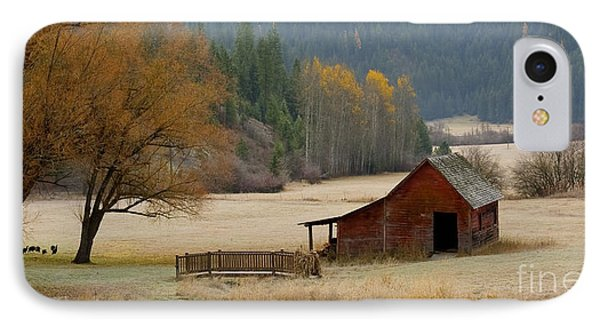 Red Barn In Autumn Phone Case by Idaho Scenic Images Linda Lantzy