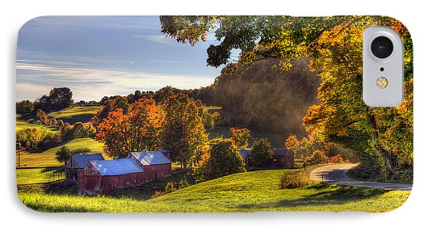 Red Barn In Autumn - Jenne Farm IPhone Case