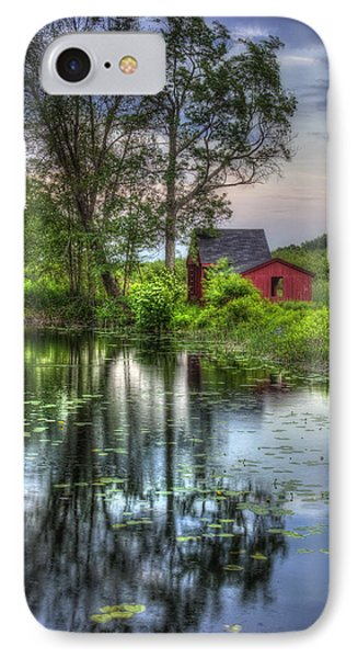 Red Barn In Country Setting IPhone Case by Joann Vitali