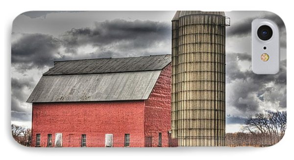 Red Barn In Fall IPhone Case