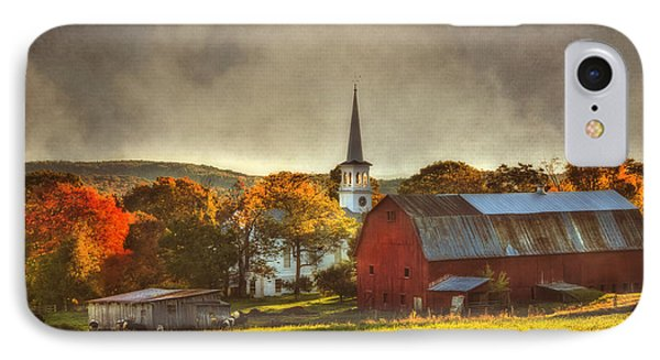 Red Barn In Fall - Peacham Vermont IPhone Case