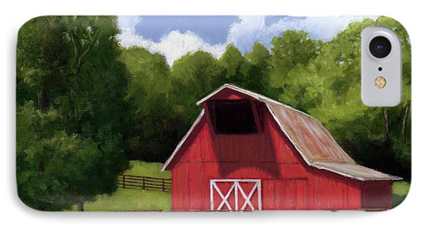 Red Barn In Franklin Tn IPhone Case by Janet King