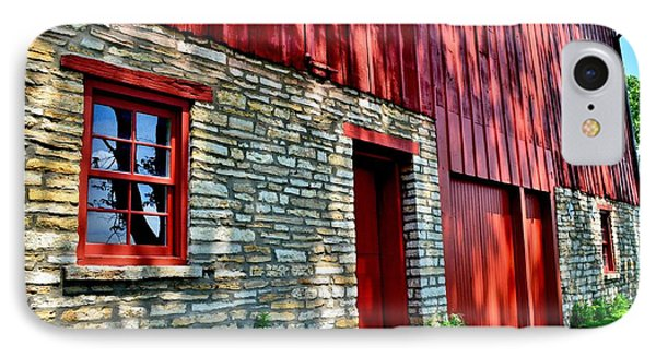 Red Barn In The Shade IPhone Case
