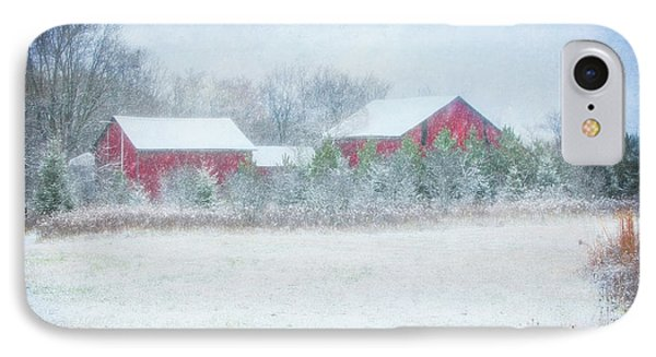 Red Barn In Winter At Retzer Nature Center  IPhone Case
