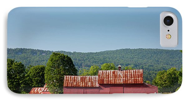 IPhone Case featuring the photograph Red Barn Near Quechee by Susan Cole Kelly