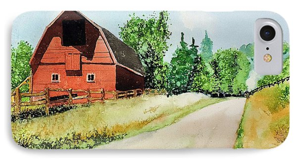 Red Barn Near Steamboat Springs IPhone Case by Tom Riggs