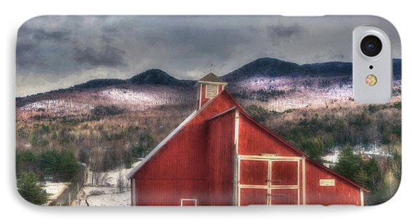 Red Barn On Old Farm - Stowe Vermont IPhone Case
