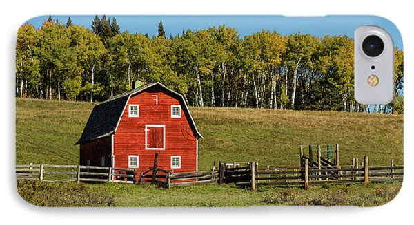 Red Barn On The Hill IPhone Case