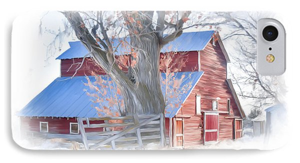 Red Barn On York Drive IPhone Case