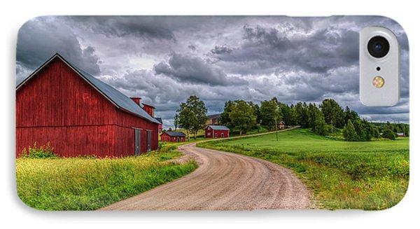 Red Barn IPhone Case by Veikko Suikkanen