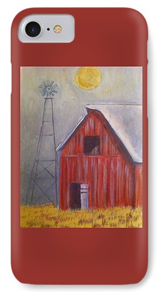 Red Barn With Windmill IPhone Case by Belinda Lawson