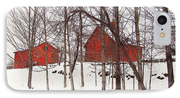 Red Barns IPhone Case by Betsy Zimmerli