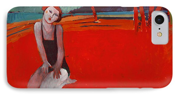 Red Beach Two IPhone Case