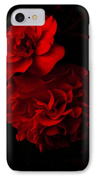 Red Begonia IPhone Case by Lynn Hughes