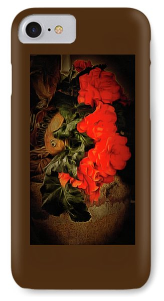 IPhone Case featuring the photograph Red Begonias by Thom Zehrfeld