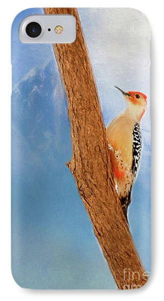 IPhone Case featuring the digital art Red Bellied Woodpecker by Darren Fisher