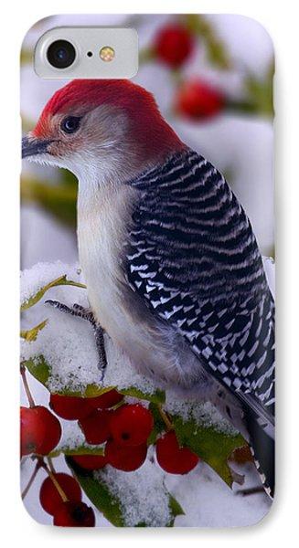 Red Bellied Woodpecker Phone Case by Ron Jones