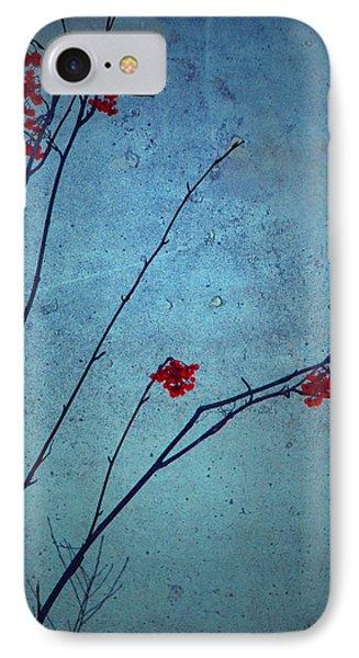 Red Berries Blue Sky Phone Case by Tara Turner