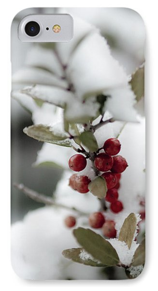 Red Berries IPhone Case by Jill Smith