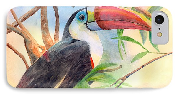 Red-billed Toucan IPhone Case by Arline Wagner