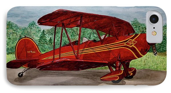 Red Biplane IPhone Case