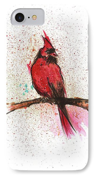 Red Bird Phone Case by Remy Francis