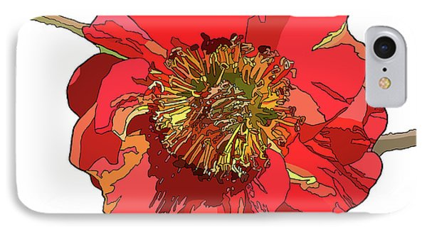 Red Blossom IPhone Case by Jamie Downs