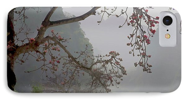 Red Blossoms  Vietnam  IPhone Case by Chuck Kuhn