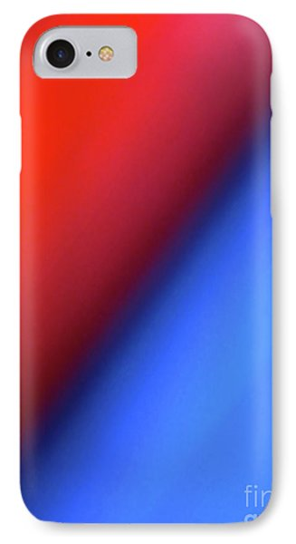 Red Blue IPhone Case by CML Brown