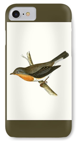 Red Breasted Flycatcher IPhone 7 Case by English School
