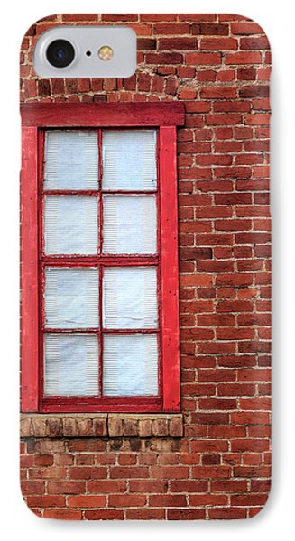 Red Brick And Window IPhone Case by James Eddy