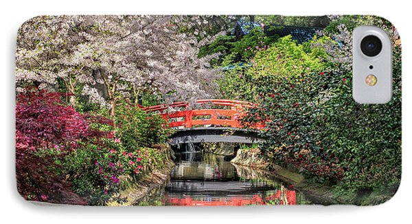 Red Bridge Spring Reflection IPhone Case by James Eddy