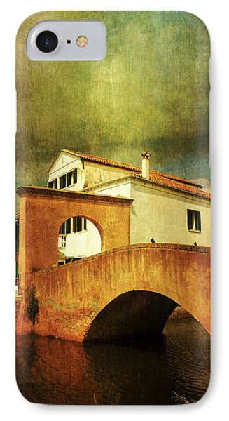 IPhone Case featuring the photograph Red Bridge With Storm Cloud by Anne Kotan
