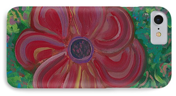 IPhone Case featuring the painting Red Brilliance by John Keaton